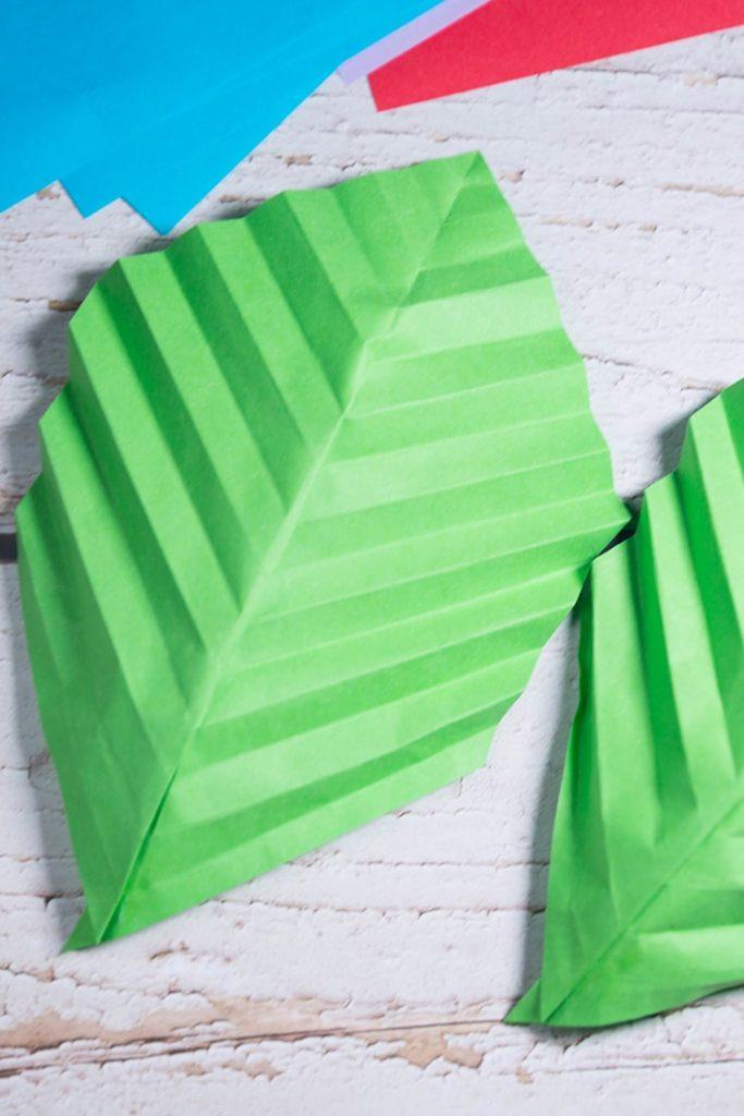 how to make origami leaf