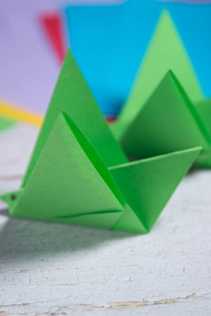 Origami warbler bird