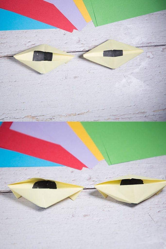 Origami blinking eye