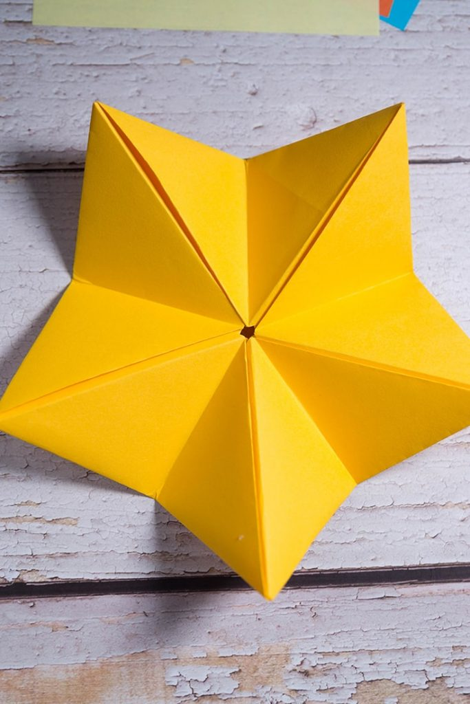 Modular 5-Pointed Star origami