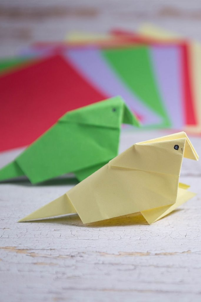 easy origami bird for kids
