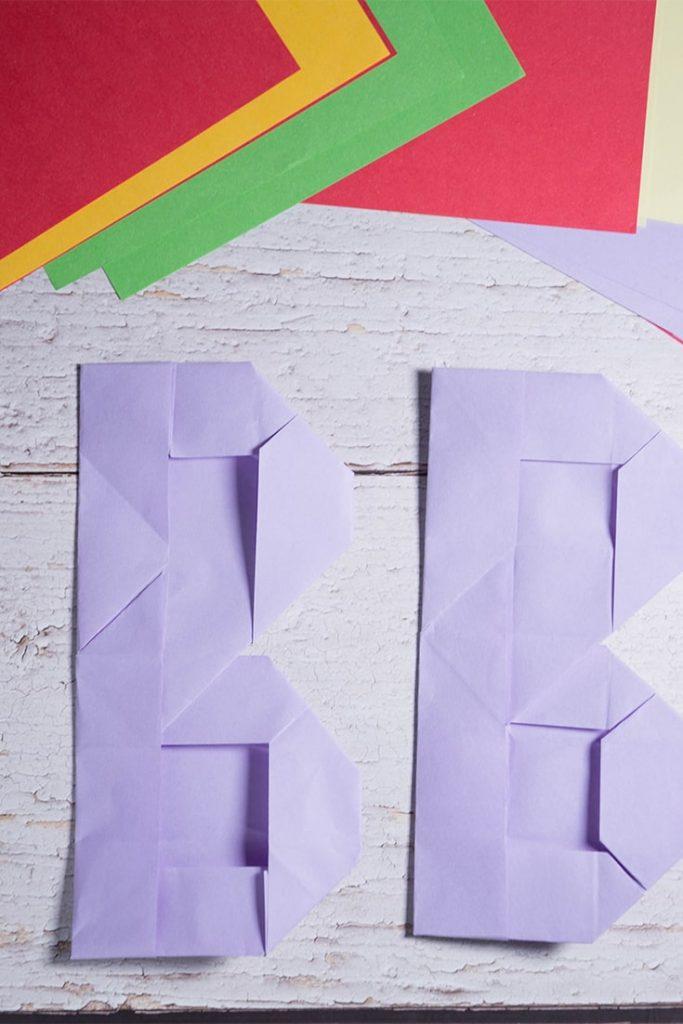 Origami Letter B
