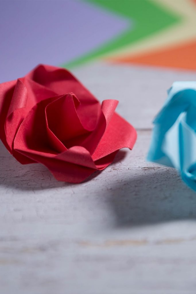 Easy Origami Twisty Rose