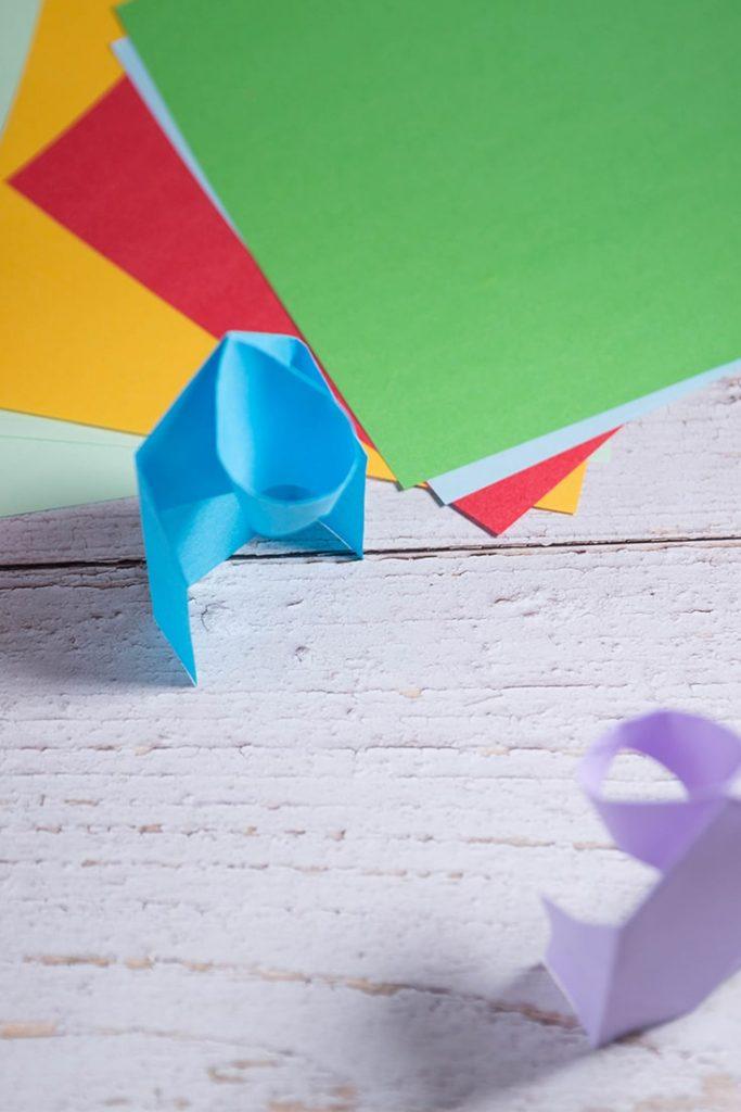 origami basketball hoop
