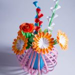 paper flower vase making
