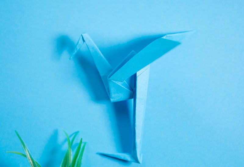 How to make an origami Heron