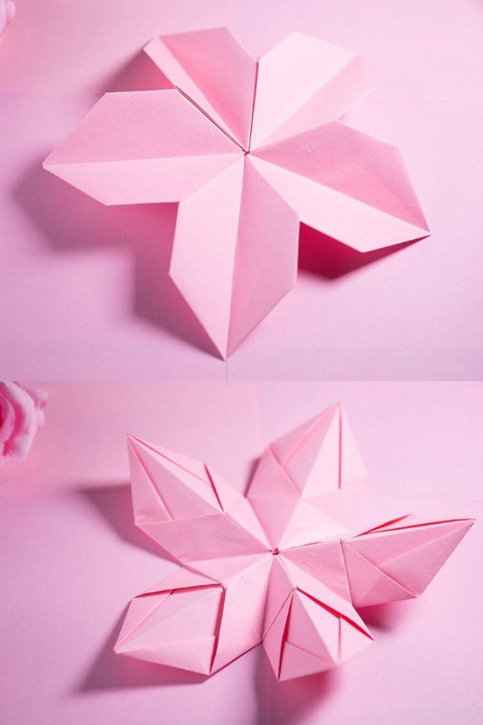 Origami Modular 5-Petal Flower