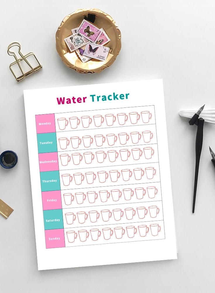 printable water tracker