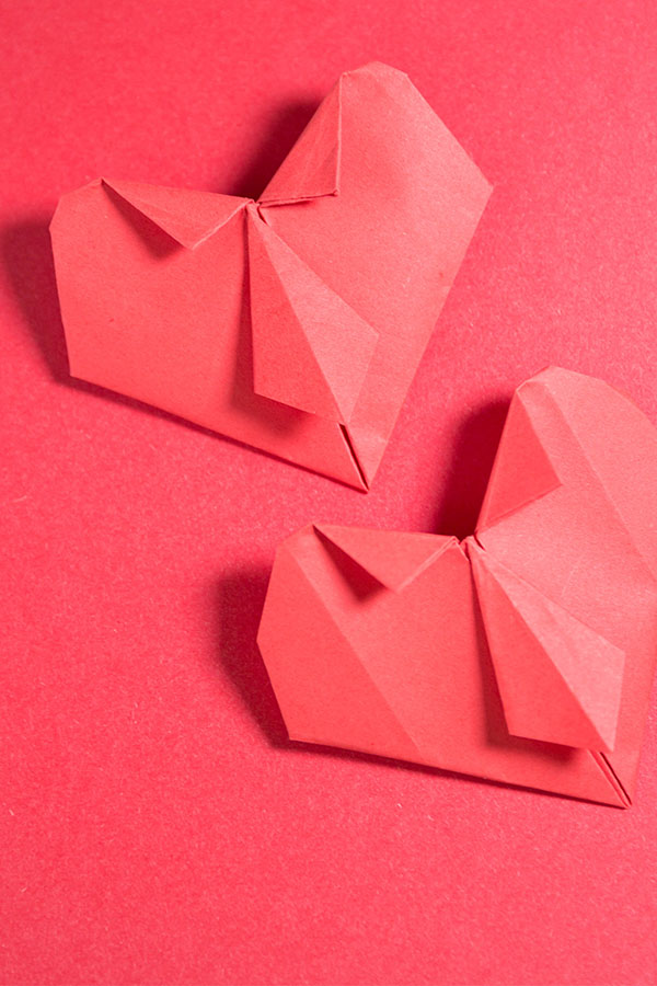Origami Heart with Tie