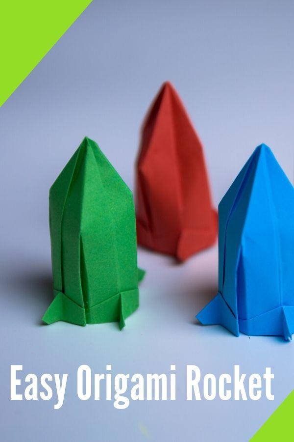 How do you make an origami rocket