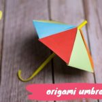 How to make an origami umbrella