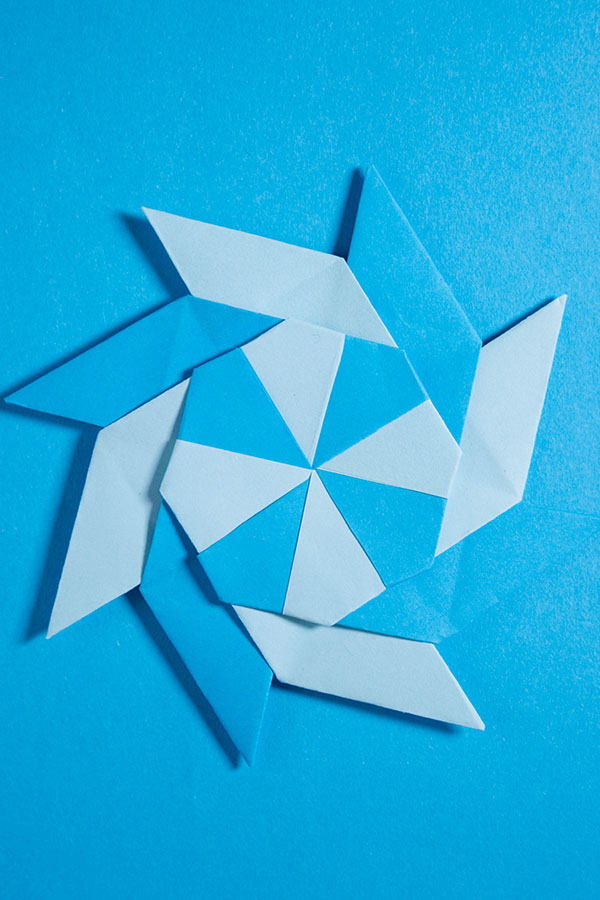How to make a 8 pointed ninja star