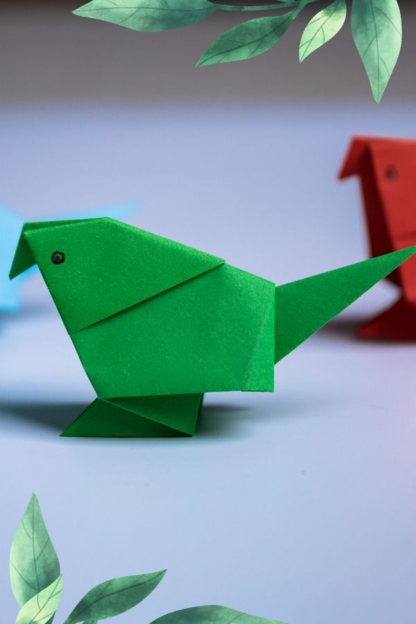 parrot origami easy