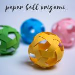 paper ball origami | woven paper ball