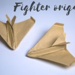 origami fighter jet easy