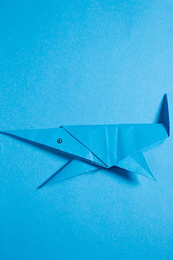 origami shark easy