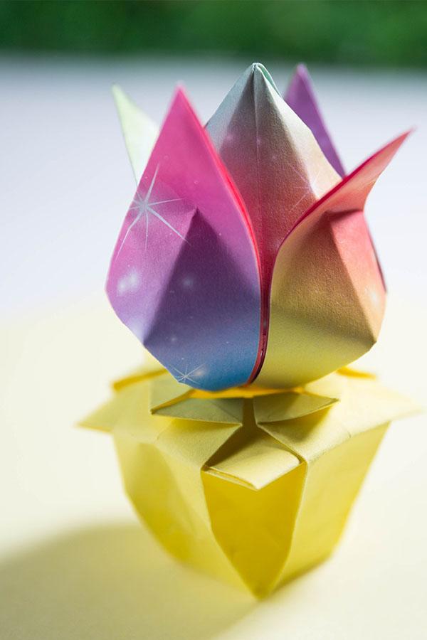 easy origami vase