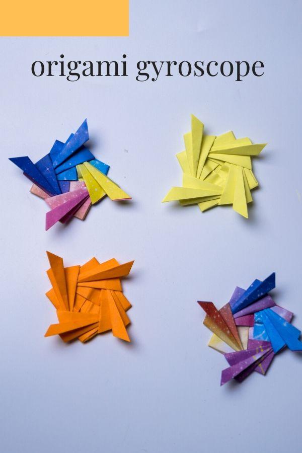 origami gyroscope