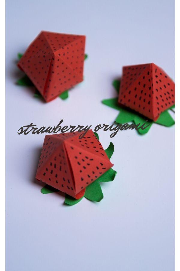 strawberry origami