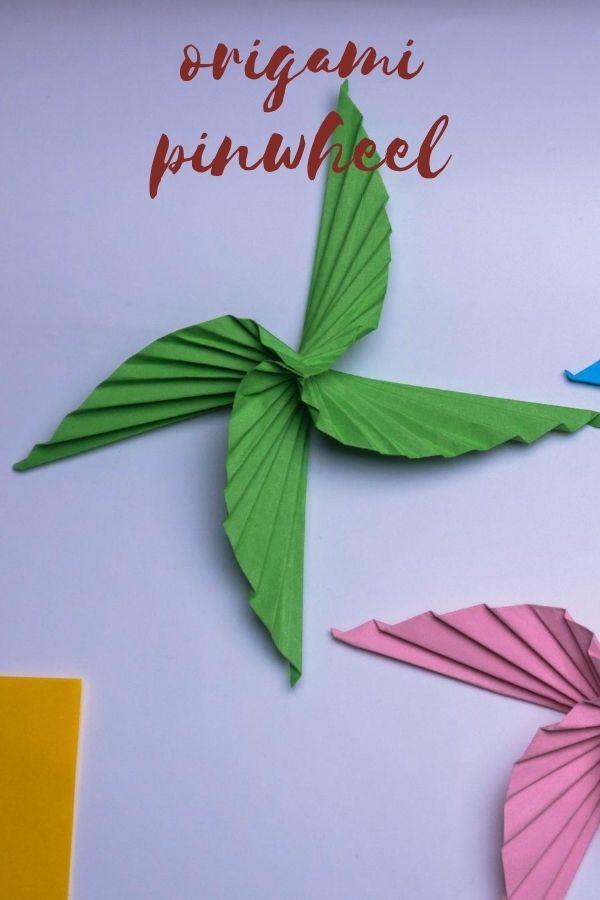 How to Make an Origami Pinwheel
