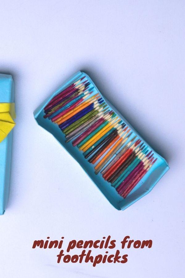 mini pencils from toothpicks