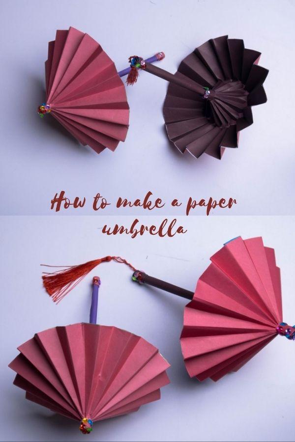 How do you make a homemade umbrella?