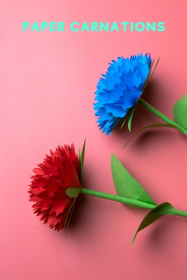 How do you make easy paper carnations?