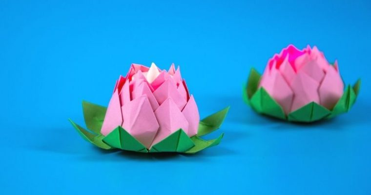 DIY Paper Lotus Lanterns