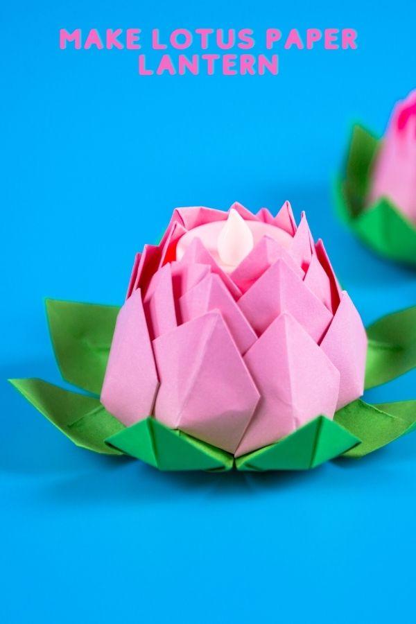 DIY Paper Lotus Lanterns