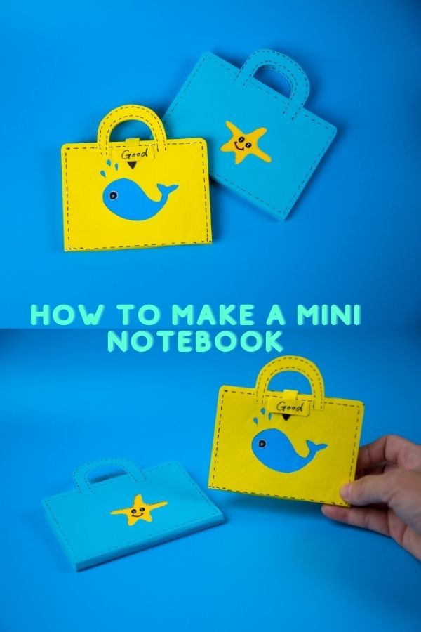 how to make a mini notebook out of paper