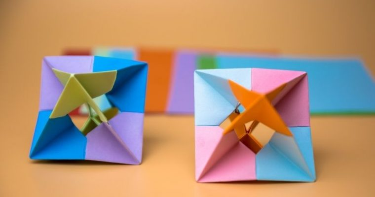 how to make Rotating paper origami toy