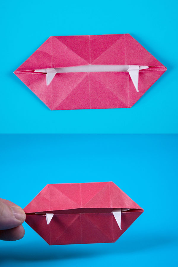Origami Halloween Vampire Fangs