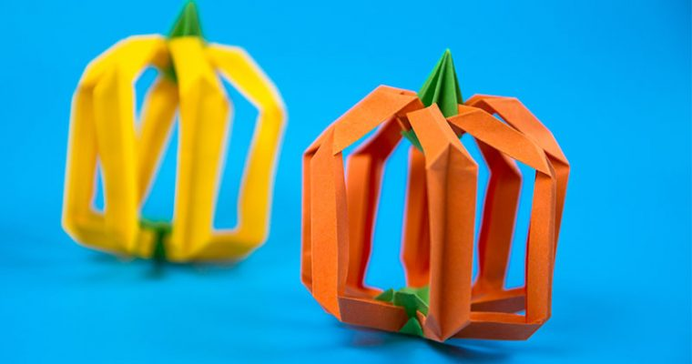 origami pumpkin easy