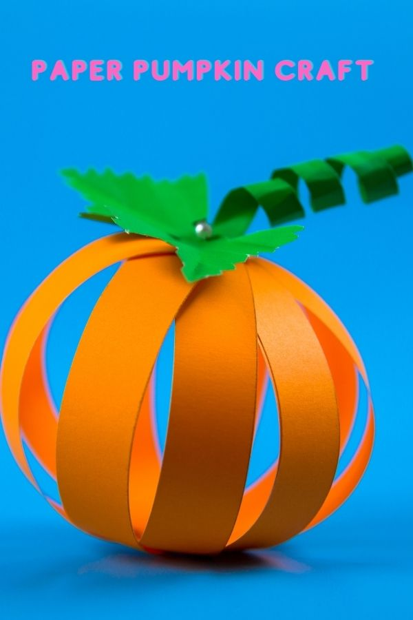 how to make halloween pumpkin lantern out of paper