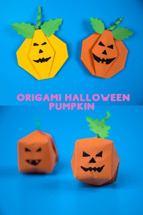 DIY Paper Halloween Pumpkin