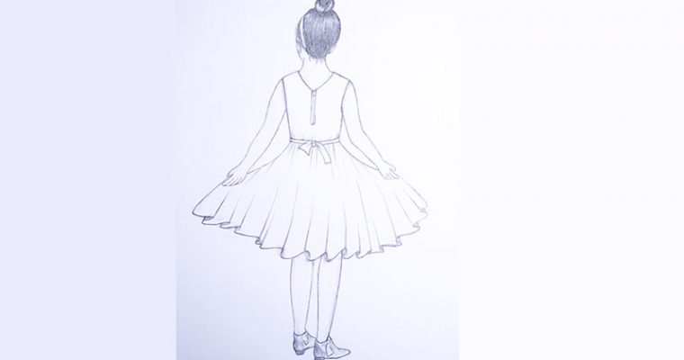 how to draw a girl with dress