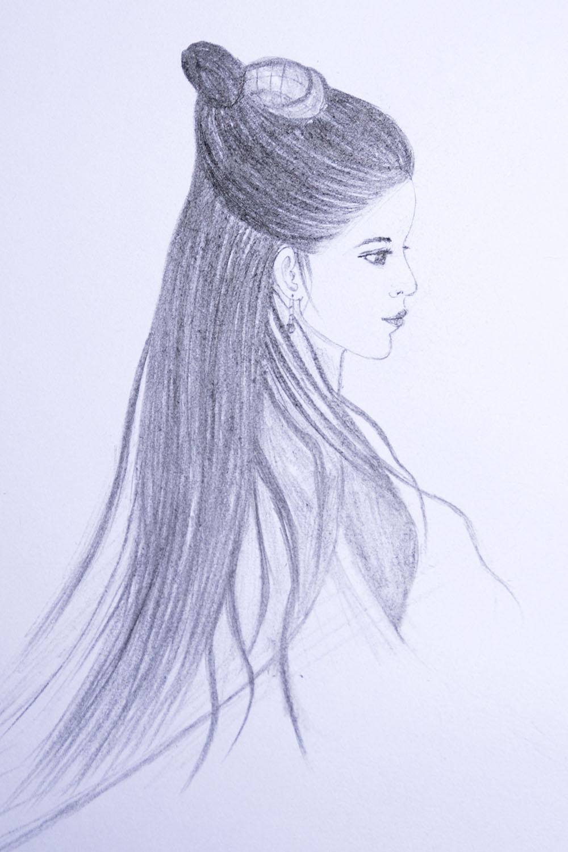 Draw Archaic Girl Chinese