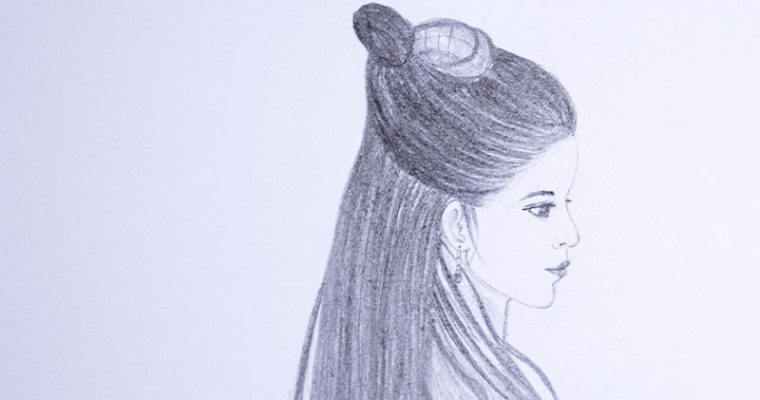 How to draw an ancient style girl Chinese