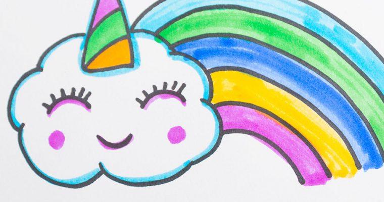 Draw Unicorn Clouds