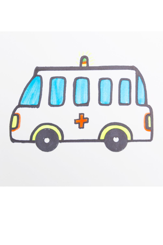 Draw an ambulance