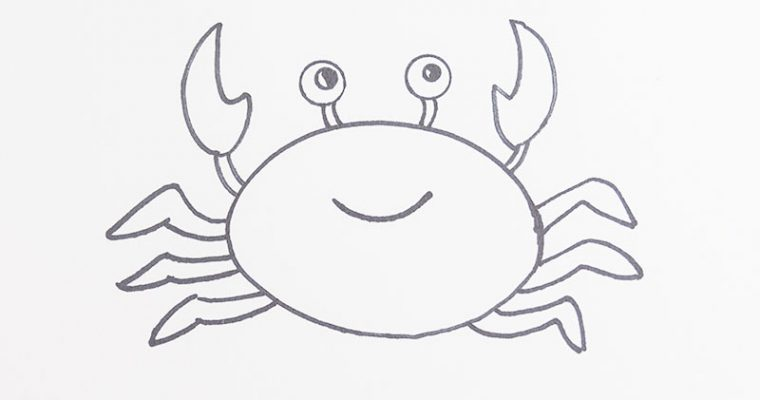 Drawing crabs for children