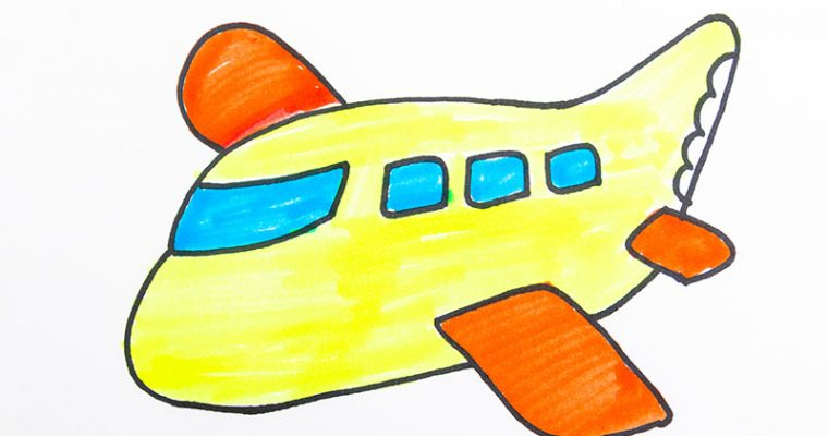 How to draw a plane for kids