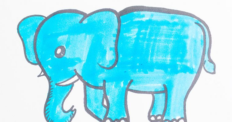 How to draw and color an elephant