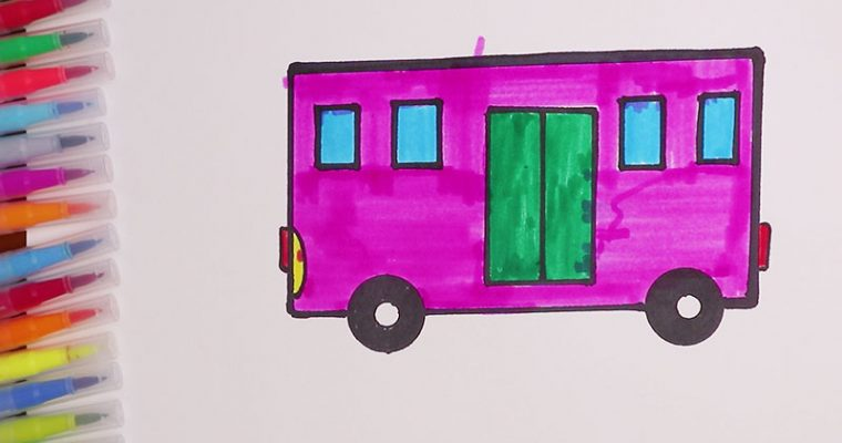 How to draw and color the bus