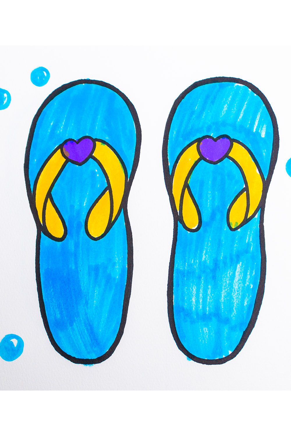 how to draw a sandals