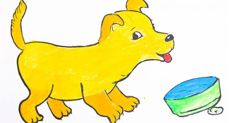 How to draw a cute dog